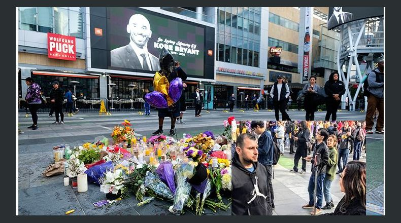 Salvadoreño llegó al Staples Center a rendirle tributo a Kobe Bryant